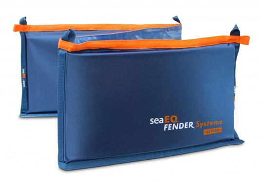 Ihre Yacht ist durch diesen Langfender optimal geschützt. An der Kaje, in der Box oder im Päckchen. Zusammengefaltet als Pack bietet der Fender auch an der Spundwand optimalen Schutz.  (Bild 4 von 5)