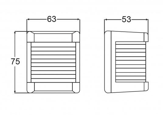 Backbordlaterne der Serie 3562: bestehend aus schlagfestem, seewasserbeständigem Kunststoff. Die Laterne kann schnell und einfach befestigt werden.  (Bild 2 von 2)