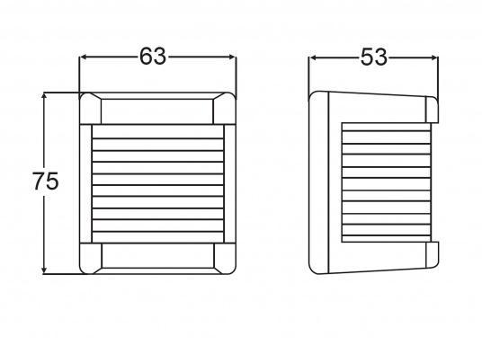 Hecklaterne der Serie 3562: bestehend aus schlagfestem, seewasserbeständigem Kunststoff. Die Hecklaterne kann schnell und einfach befestigt werden.  (Bild 2 von 2)