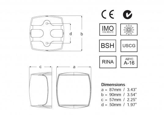 Höchste Sichtbarkeit und Sicherheit! Die NaviLED®PRO Positionslaternen vereinigen Präzisionsoptik und moderne Multivolt TM-Technik. (Bild 6 von 6)