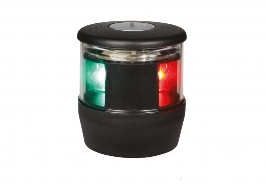 hella marine navi led trio 3 color lantern with anchor light black