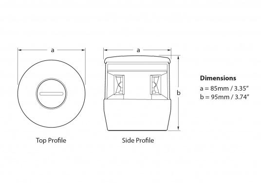 Höchste Sichtbarkeit und Sicherheit! Die NaviLED®TRIO 3-Farbenlaterne mit Ankerlicht vereinigtPräzisionsoptik und moderne Multivolt TM-Technik.  (Bild 8 von 8)