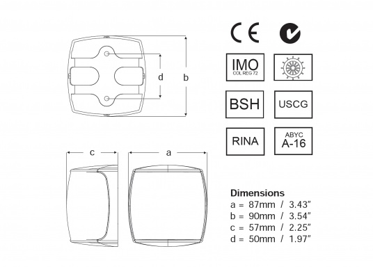 Höchste Sichtbarkeit und Sicherheit! Die NaviLED®PRO Positionslaternen vereinigen Präzisionsoptik und moderne Multivolt TM-Technik. (Bild 3 von 3)