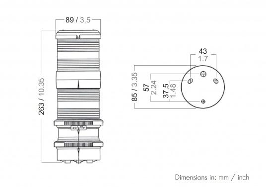 3-Farben-Laterne mit Ankerlicht der Serie 40 mit quicfits-Befestigung.  (Bild 3 von 3)