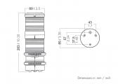 Dreifarbenlaterne mit Ankerlicht Serie 40, quicfits