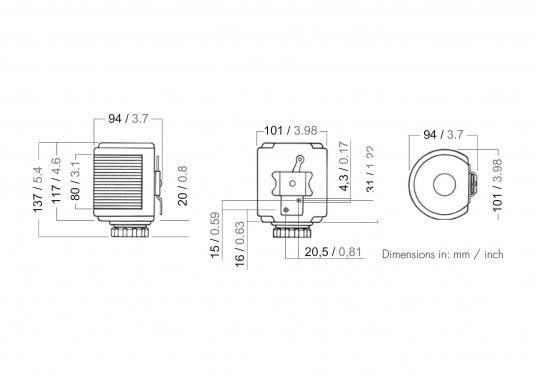 Klassische Laternenserie aus poliertem Edelstahl mit weltweiter Zulassung. In Deutschland zugelassen für Wasserfahrzeuge unter 20 m Länge.  (Bild 4 von 4)