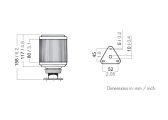 Luce di ancoraggio a montaggio fisso / Serie 50