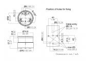 Feu de signal vert à LED/Série 34 /boitier noir