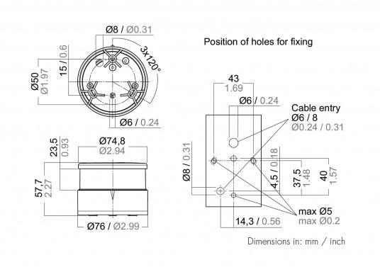 Attraktives Design, neuester technologischer Stand - die LED Serie 34. Absolut wartungsfrei, seewasserfest, UV-geschützt. Sehr geringer Energieverbrauch. (Bild 5 von 5)