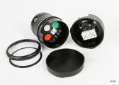 LED tricolor light series 34 / black housing
