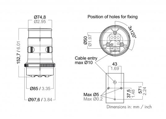 Attraktives Design, neuester technologischer Stand - die LED Serie 34. Absolut wartungsfrei, seewasserfest, UV-geschützt. Sehr geringer Energieverbrauch.  (Bild 6 von 6)