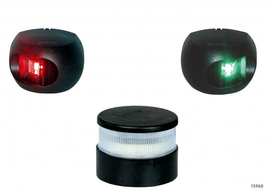 schwarz Positionsleuchte Boot AQUA SIGNAL 34 LED Signal weiß 12//24V Farbe