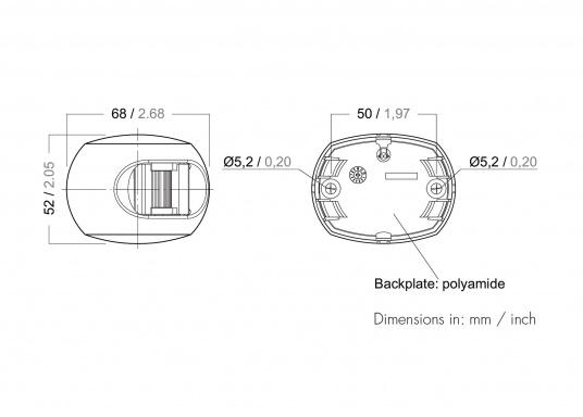 Attraktives Design, neuester technologischer Stand - die LED Serie 34. Absolut wartungsfrei, seewasserfest, UV-geschützt. Sehr geringer Energieverbrauch. (Bild 3 von 3)