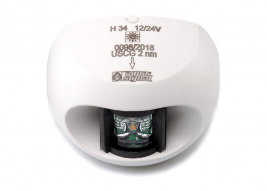 Attraktives Design, neuester technologischer Stand - die LED Serie 34. Absolut wartungsfrei, seewasserfest, UV-geschützt. Sehr geringer Energieverbrauch. (Bild 2 von 7)
