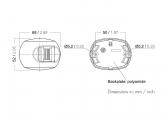 Jeu de 3 feux de navigation : babôrd, tribôrd, poupe. Série 34/ Boitier blanc