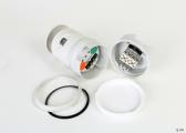 LED-Dreifarben-/Ankerlaterne mit quicfit-System Serie 34 / weißes Gehäuse