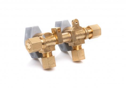 Mehrere Gasgeräte an einem zentralen Ort – mit den Verteilerblöcken ist das kein Problem. Die Sicherheits-Schnellverschluss-Absperrventile und Verteilerblöcke sind geeignet für 8 mm Rohre bzw. Schläuche mit Rohr-Endstücken. (Bild 4 von 4)