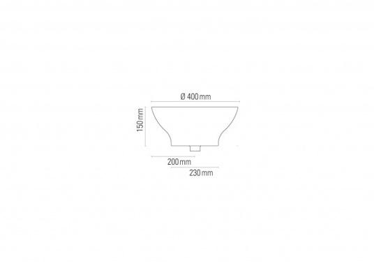 Dieses runde Waschbecken bietet aktuelles Design und Eleganz für Boot und Haus.  (Bild 2 von 2)