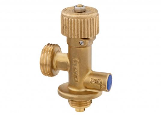 Zum Anschluss an Butan- bzw. Propan-GAZ®-Flaschen bis 5 kg Füllgewicht. Zusammen mit einem Druckminderer ist damit die Nutzung der GAZ®-Flaschen an Bord erlaubt.
