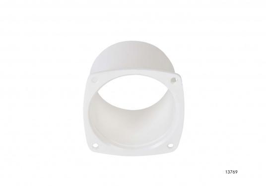 Lüfterstutzen für Edelstahl Lüftungsgitter. Material: Kunststoff.  (Bild 2 von 3)