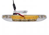 LED Stufenleuchte BARTEGO, rot / nach unten strahlend