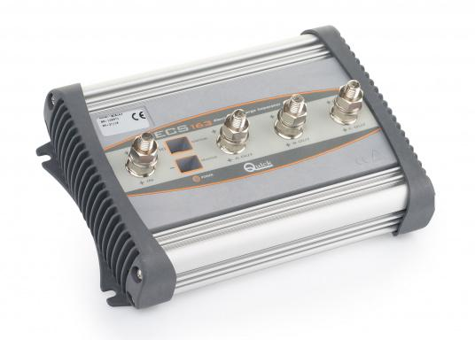 Simultaneous loading of 2 or 3 batteries without voltage drops  Suitable for almost all charging sources (max. 160 A)  Can be used even under harsh temperature conditions  LED operating state indicator  (Image 2 of 4)