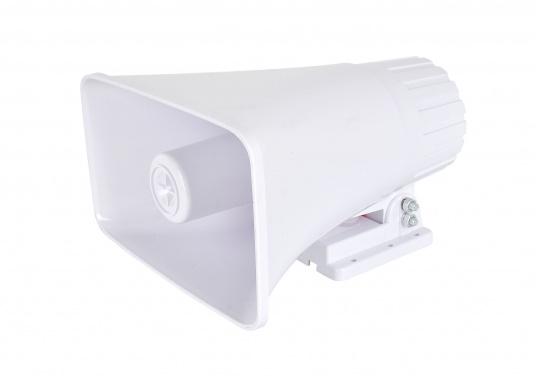 Dieser seewasser- und korrosionsbeständiger Außenlautsprecher ist für den Einsatz an Wechselsprechanlagen geeignet. Lieferbar mit max. 40 Watt Belastbarkeit.