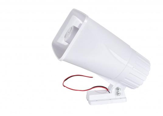 Dieser seewasser- und korrosionsbeständiger Außenlautsprecher ist für den Einsatz an Wechselsprechanlagen geeignet. Lieferbar mit max. 40 Watt Belastbarkeit.  (Bild 2 von 4)