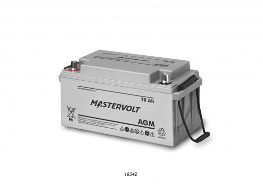In AGM batteries, the electrolyte (mixture of water and sulphuric acid) is largely absorbed in glass fibre. This type of battery is entirely maintenance-free and there is no gas formation with normal use. This battery does not requireany ventilation, these batteries can be installed anywhere.  (Image 3 of 9)