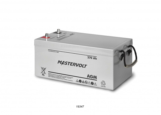 In AGM batteries, the electrolyte (mixture of water and sulphuric acid) is largely absorbed in glass fibre. This type of battery is entirely maintenance-free and there is no gas formation with normal use. This battery does not requireany ventilation, these batteries can be installed anywhere.  (Image 8 of 9)