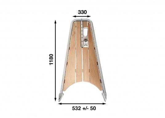 Die neue Bugplattform PB120 erlaubt eine Kombination aus der neu entwickelten Kassettleiter BKT73A und einem 20 kg Anker.  (Bild 8 von 8)