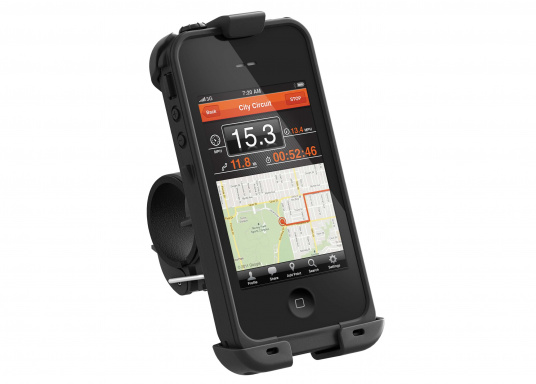 Throw away that plastic bag! With the LifeProof Bike and Bar Mount for your iPhone 4/4S Case, you will be able to bring your mobile device with you on that biking adventure in all weather conditions.