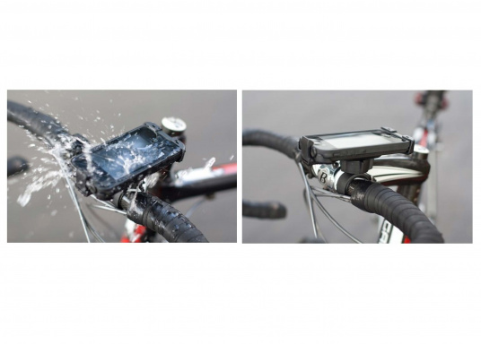 Throw away that plastic bag! With the LifeProof Bike and Bar Mount for your iPhone 4/4S Case, you will be able to bring your mobile device with you on that biking adventure in all weather conditions. (Image 4 of 5)