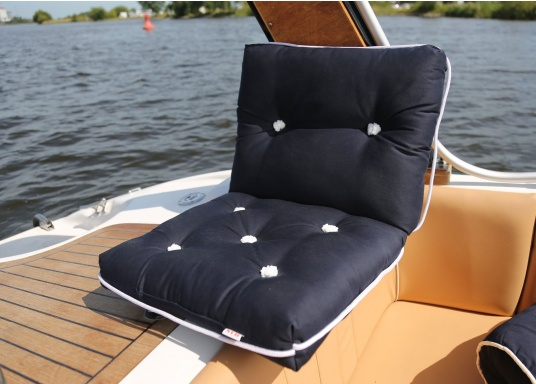 Floating seat cushion with kapok fiber filling. Cover 100% cotton. (Image 3 of 3)