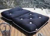 Cuscino da barca Kapok doppio / blu navy