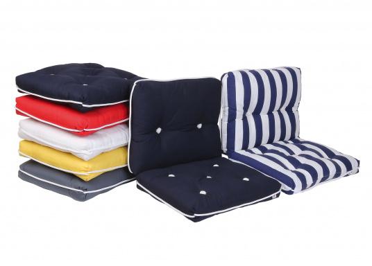 Schwimmfähige Sitzkissen mit echter Kapok-Naturfaser-Füllung. Bezug 100% Baumwolle.  (Bild 2 von 2)