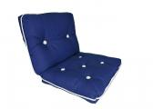 Image of Kapok Double Cushion / royal blue
