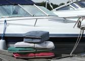 Cuscino doppio da barca Kapok / verde scuro