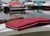 Cuscino doppio da barca Kapok / rosso bordeaux