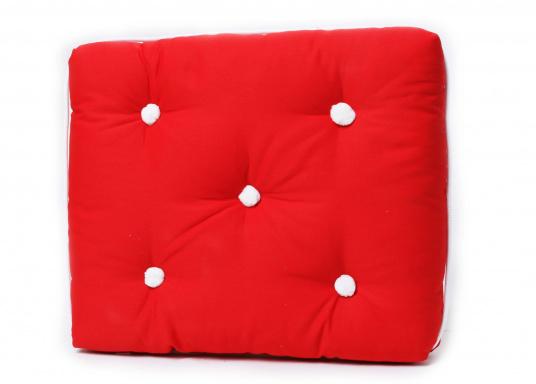 Schwimmfähige Sitzkissen mit echter Kapok-Naturfaser-Füllung. Bezug 100% Baumwolle.