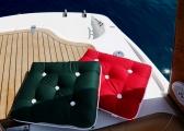 Cuscino singolo da barca in Kapok / rosso