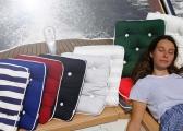 Cuscino singolo da barca in Kapok / grigio chiaro