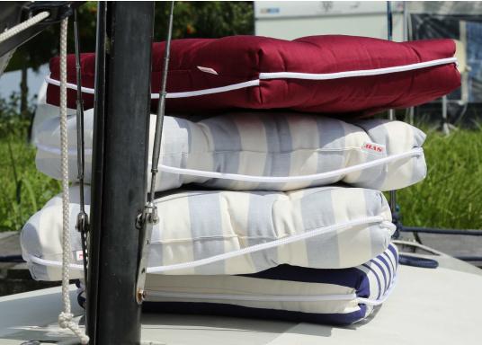 Schwimmfähige Sitzkissen mit echter Kapok-Naturfaser-Füllung. Bezug 100% Baumwolle. (Bild 3 von 4)