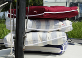Cuscino da barca Kapok singolo / rosso bordeaux
