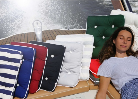 Schwimmfähige Sitzkissen mit echter Kapok-Naturfaser-Füllung. Bezug 100% Baumwolle. (Bild 5 von 5)
