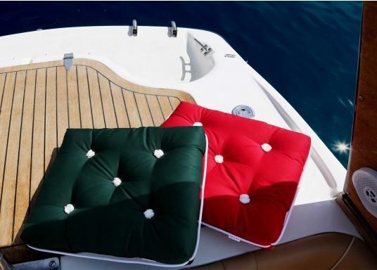 Schwimmfähige Sitzkissen mit echter Kapok-Naturfaser-Füllung. Bezug 100% Baumwolle. (Bild 4 von 5)
