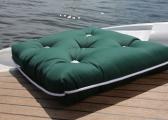 Cuscino da barca Kapok singolo / verde scuro