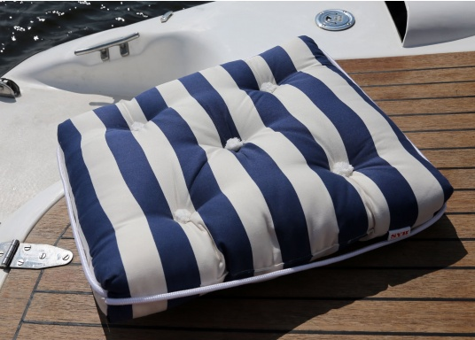 Floating seat cushion with kapok fiber filling. Cover 100% cotton. (Image 2 of 6)