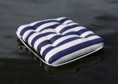 Cuscino da barca Kapok singolo / blu navy a righe
