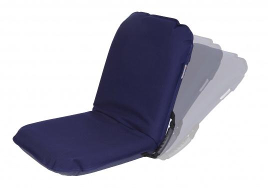 Mobiler Sitzkomfort an Bord, beim Camping, am Strand und im Garten. Der Comfort Seat bietet Sitzkomfort in 6 Positionen: vom aufrechten Sitzen bis zum entspannten Liegen. Erhältlich in Dunkelblau und Blau-Weiß gestreift.